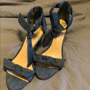 Brand new Vince Camuto denim ankle pumps